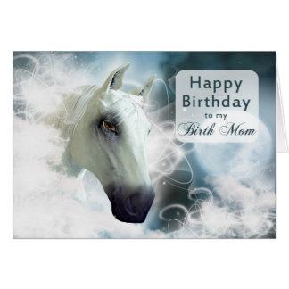 Birth Mother birthday, Arabian Horse Card