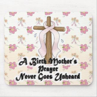 Birth Mothers Prayer Never Unheard Pink RIbbon Mouse Pad