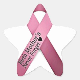 Birth Mother's Star Ribbon Star Sticker