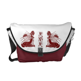 Birth Of A Dragon - Burgandy Courier Bags