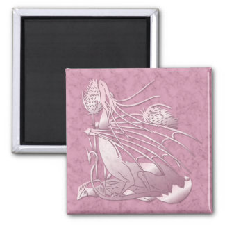 """Birth Of A Dragon"" Dark Pink Marble Magnet"