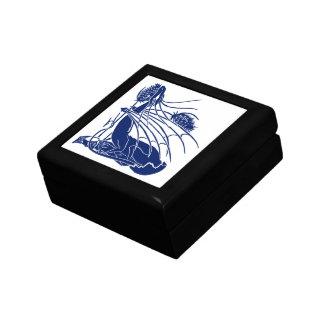 """Birth Of A Dragon"" - Deep Blue - Jewelry Box"