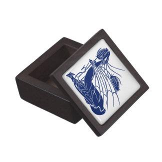 """Birth Of A Dragon"" - Deep Blue - Keepsake Box"