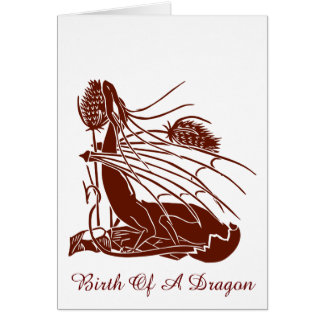 """Birth Of A Dragon"" - Deep Red - Card"