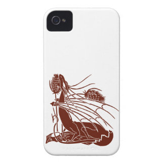 """Birth Of A Dragon"" - Deep Red - iPhone 4 Case"