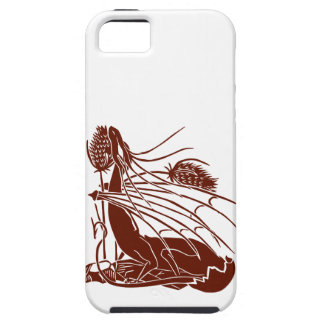 """""""Birth Of A Dragon"""" - Deep Red - iPhone 5 Cases"""