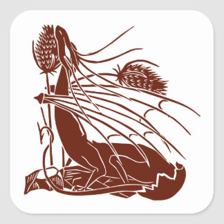 """Birth Of A Dragon"" - Deep Red - Square Sticker"