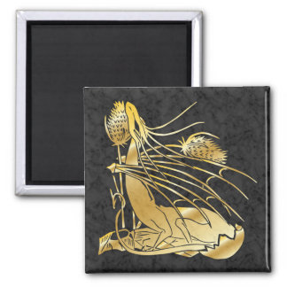 """Birth Of A Dragon"" Gold Marble Magnet"