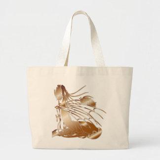 """Birth Of A Dragon"" Original Art Work in Copper Large Tote Bag"