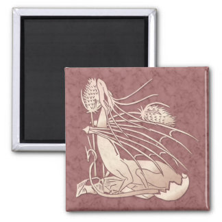 """""""Birth Of A Dragon"""" Pink Marble Magnet"""