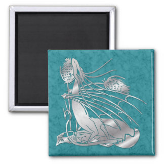 """""""Birth Of A Dragon"""" Silver Marble Magnet"""