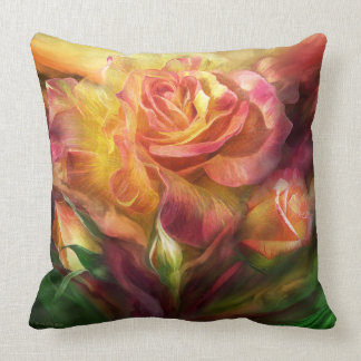 Birth Of A Rose Art Decorator Pillow