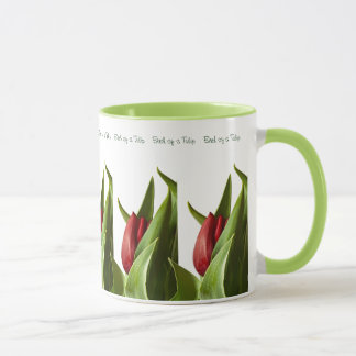 Birth of a Spring Red Tulip Mug