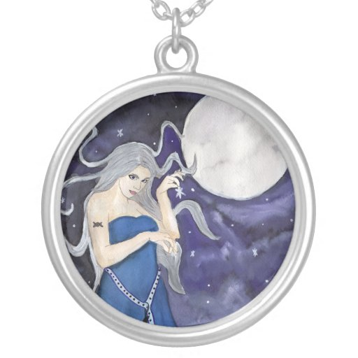 birth of a celestial moon necklace zazzle