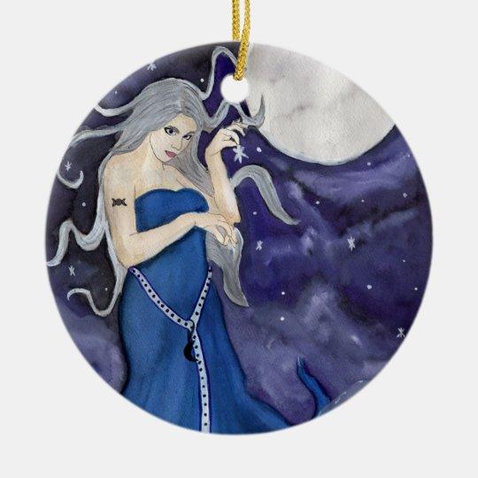 Birth of a star ceramic ornament christmas yule