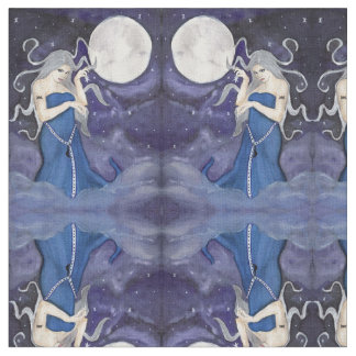 Birth of a Star Enchanted Celestial Moon Fabric