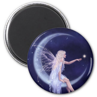 Birth of a Star Fairy Round Magnet