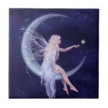 Birth of a Star Moon Fairy Art Tile