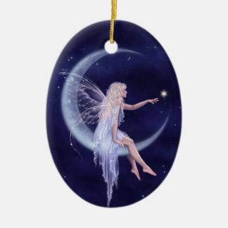 Birth of a Star Moon Fairy Ornament