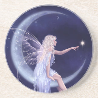 Birth of a Star Moon Fairy Sandstone Drink Coaster