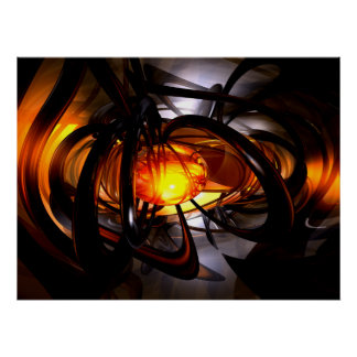 Birth of a Sun Abstract Poster