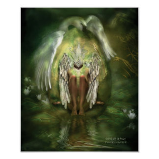 Birth Of A Swan Art Poster/Print