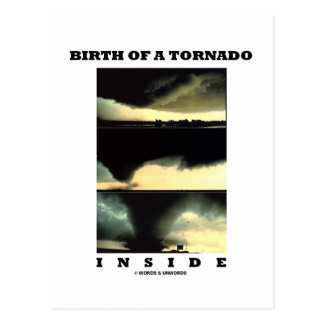 Birth Of A Tornado Inside (Meteorology) Postcard
