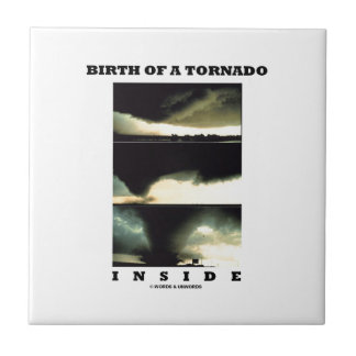 Birth Of A Tornado Inside (Meteorology) Small Square Tile