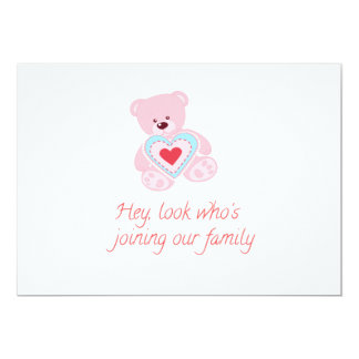 Birth of Baby Girl Card