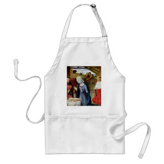 Birth Of Christ And The Cardinal Rolin By Jean Hey Adult Apron