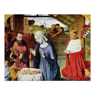 Birth Of Christ And The Cardinal Rolin By Jean Hey Announcement