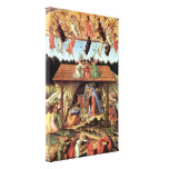 Birth of Christ by Botticelli, Vintage Renaissance Canvas Print