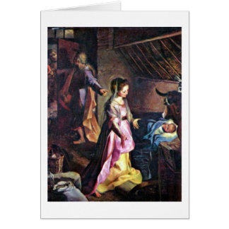 Birth Of Christ By Federico Barocci Card