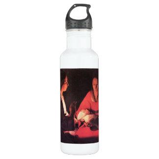 Birth of Christ by Georges de La Tour 24oz Water Bottle