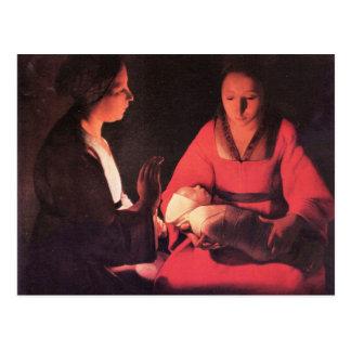 Birth of Christ by Georges de La Tour Postcard
