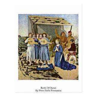 Birth Of Christ By Piero Della Francesca Postcard