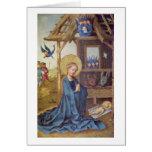 Birth Of Christ By Stefan Lochner Greeting Card