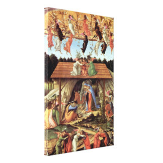 Birth of Christ, Mystic Birth by Sandro Botticelli Canvas Print