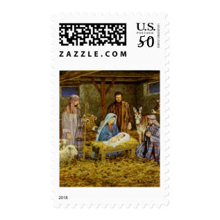 Birth Of Christ Postage Stamp 44 Cent at Zazzle