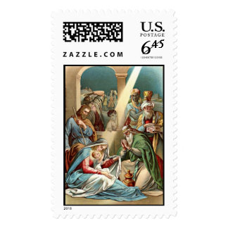birth of christ stamp postage