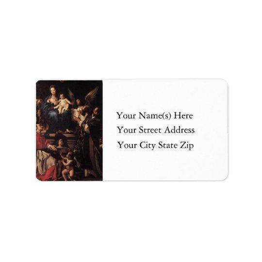 Birth of Christ Vintage Address Label