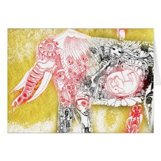 birth of elephant card