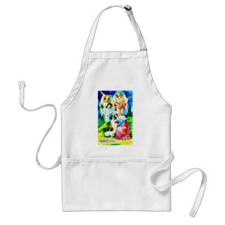 Birth of Jesus Christ by Mary with Angels Singing Adult Apron