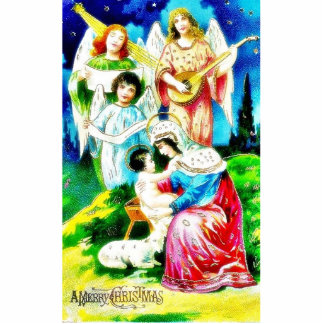 Birth of Jesus Christ by Mary with Angels Singing Cutout