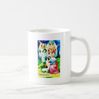 Birth of Jesus Christ by Mary with Angels Singing Coffee Mug