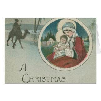 Birth of Jesus Christmas Greetings Card