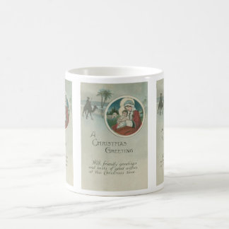 Birth of Jesus Christmas Greetings Coffee Mug