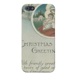 Birth of Jesus Christmas Greetings Cases For iPhone 5