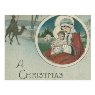 Birth of Jesus Christmas Greetings Postcard