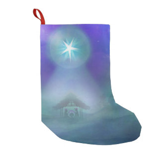 birth of Jesus Christmas Stocking Small Christmas Stocking